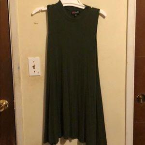 Mock-Neck Mini Dress
